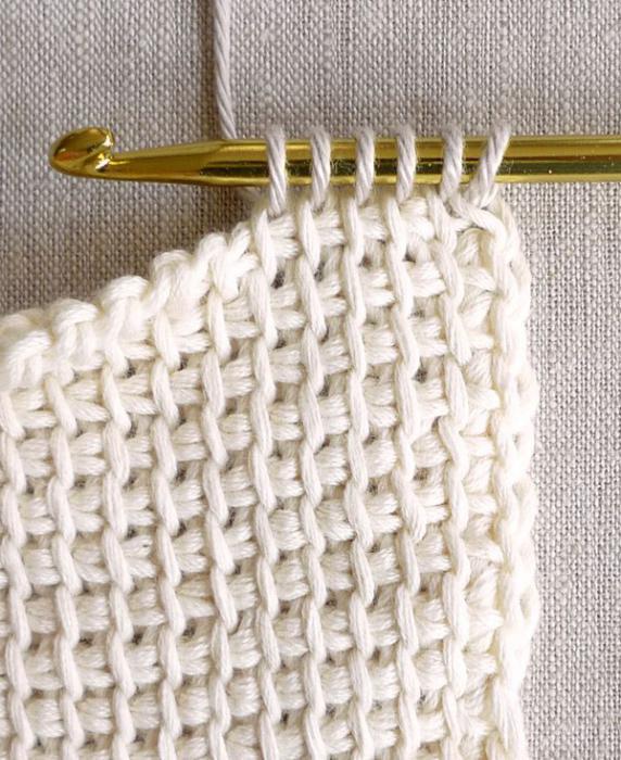 Тунисская техника вязания крючком схемы