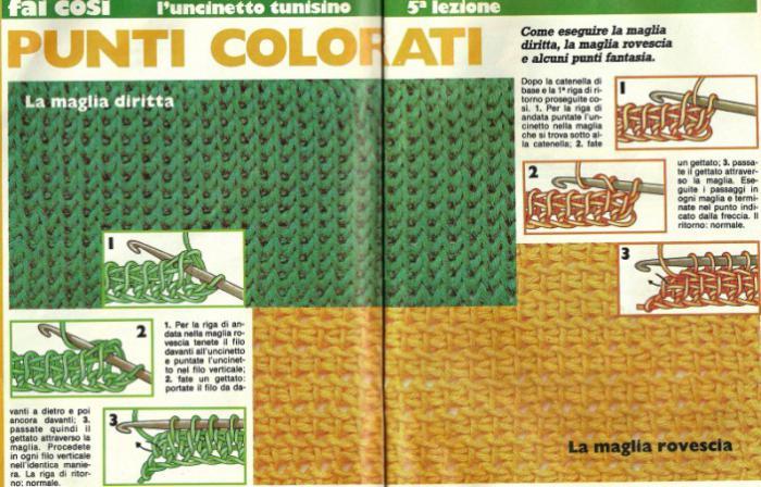 Тунисское вязание крючком. Тунисская техника вязания: узоры