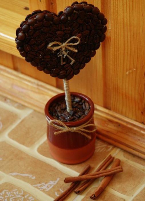 Кофейный топиарий своими руками: пошаговая инструкция