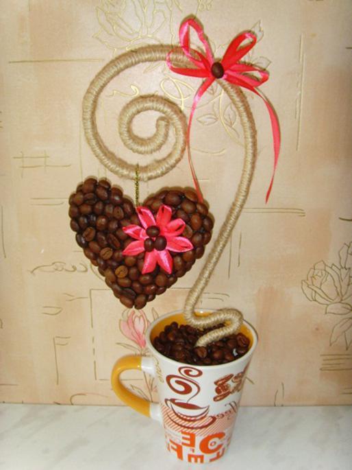 Кофейный топиарий своими руками для начинающих