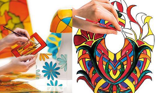 Краска для стекла своими руками