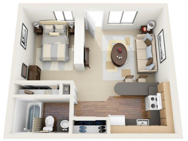 Дизайн маленькой 2-х комнатной квартиры