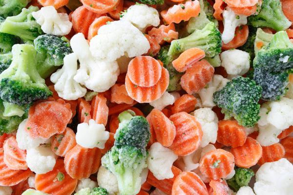 Шоковая заморозка овощей