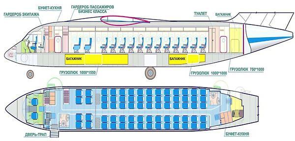 ан 148 схема салона