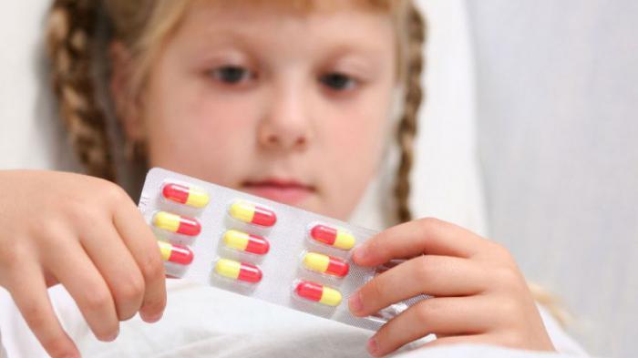 taking antibiotics by children