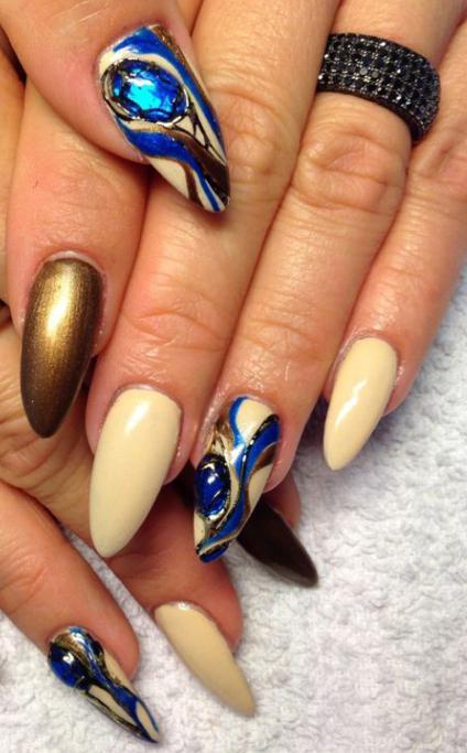 жидкие камни дизайн ногтей фото