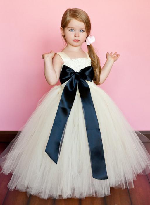 Как сшить детское пышное платье своими руками видео