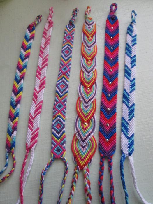 bracelets made of thread