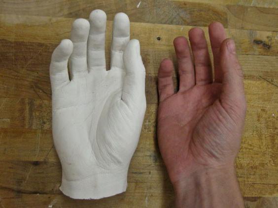 Рука из гипса своими руками