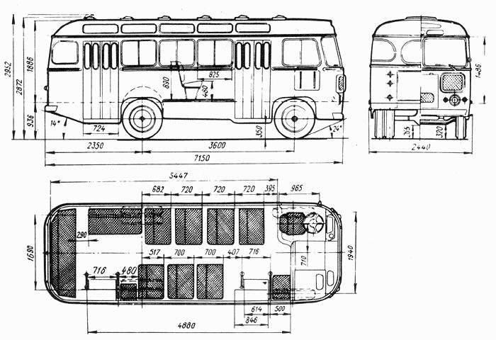 Автобус ПАЗ 672: технические