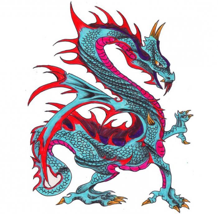 С кого рисовали дракона