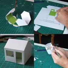 Поделка из бумаги дом снаружи