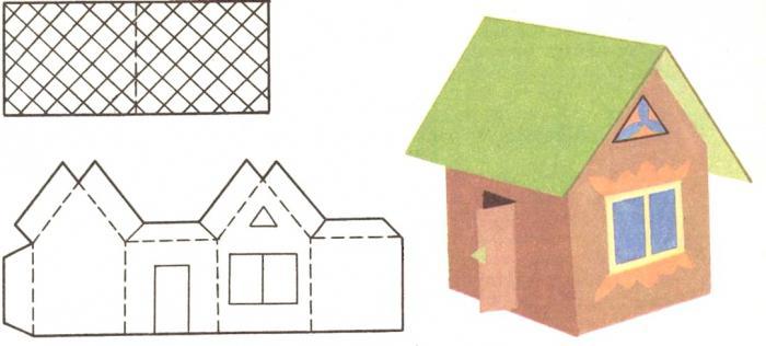 Как сделать макет дома из картона 181