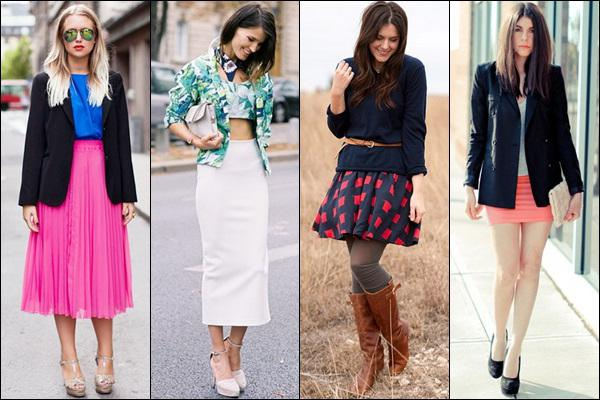 Types of skirts: photo.