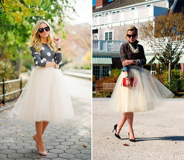 Types of women's skirts.