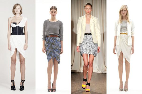 Types of models of skirts.