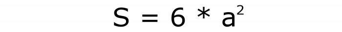 Чему равна площадь всех граней куба