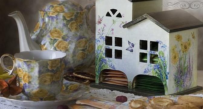 чайные домики декупаж фото
