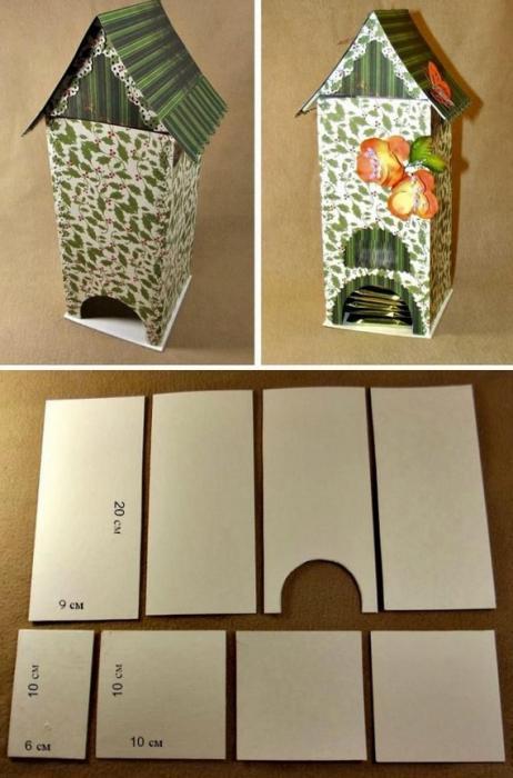Чайный домик своими руками мастер класс из картона шаблоны фото
