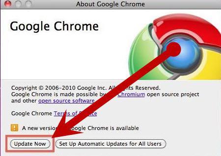 Как обновить браузер google chrome