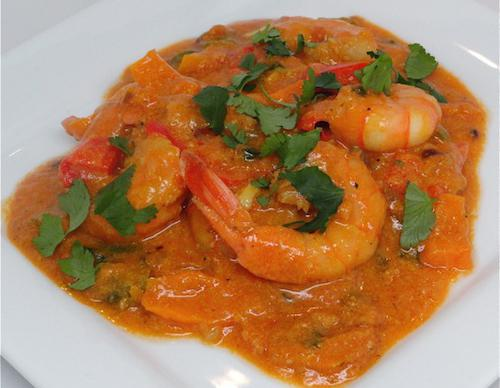 dishes with shrimp