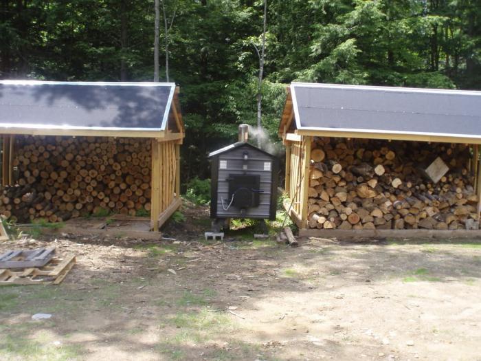 Wood boiler for home