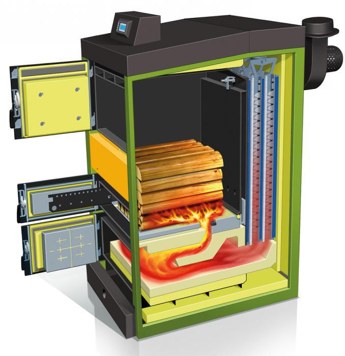 Wood heating boilers