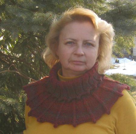 связать шарф хомут спицами схема