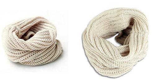 связать шарф снуд хомут спицами