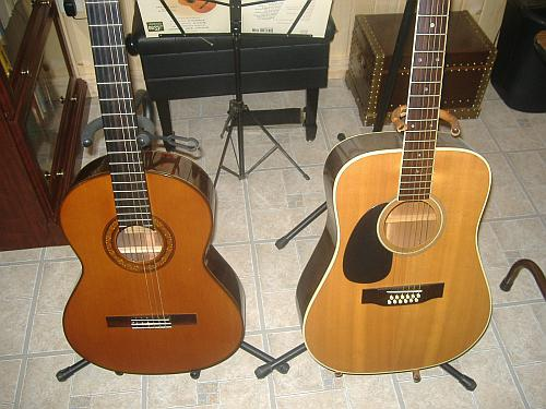 How does an acoustic guitar differ from a classical one?