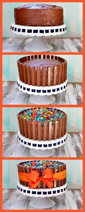 Конфетный тортик своими руками
