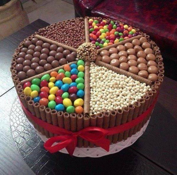 Торт из конфет своими руками пошагово фото