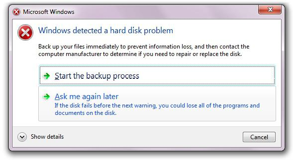 если windows обнаружила неполадки жесткого диска