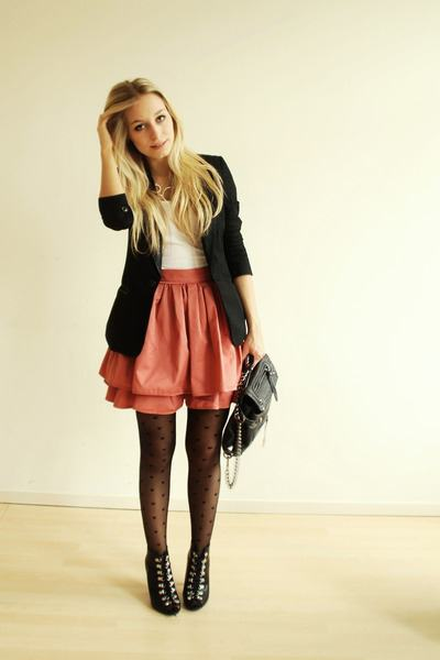 leather skirt with what to wear