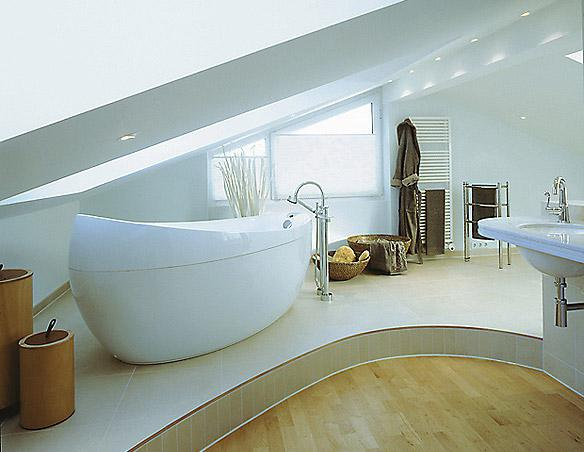 baths with attic floor