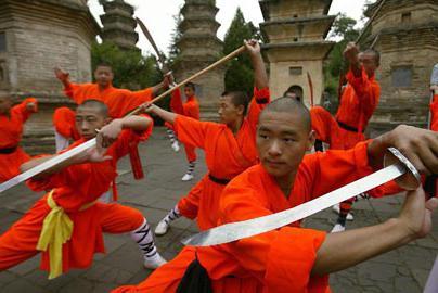 Shaolin monks performance