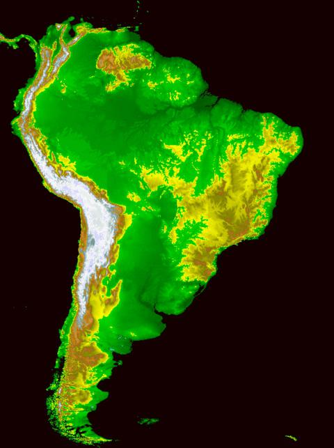 natural areas of South America