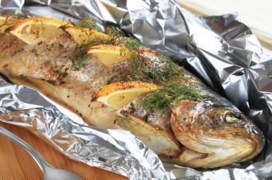 Рецепт приготовления рыбы в духовке с овощами