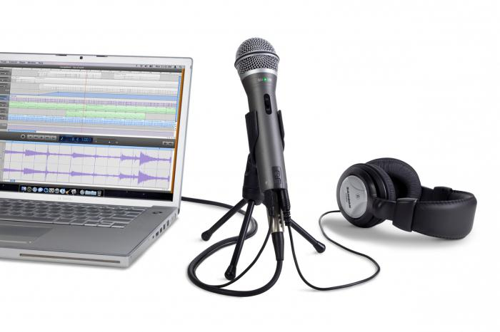 you can connect a microphone to your laptop