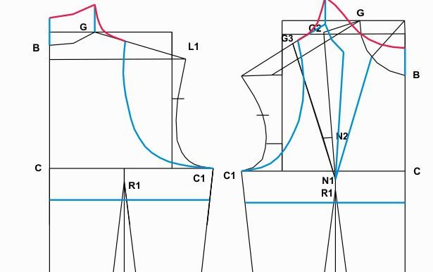 построение выкройки платья футляр