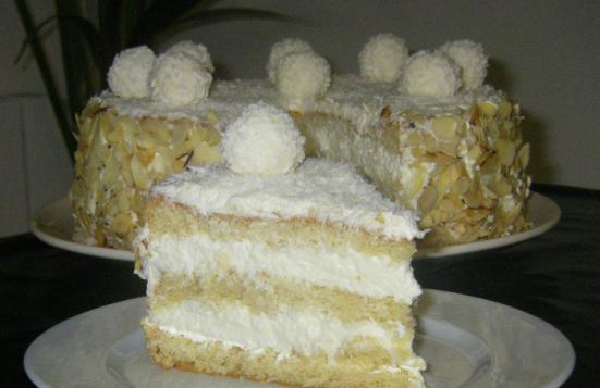 крем рафаэлло для торта
