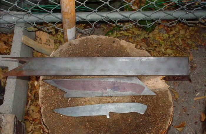 из чего сделать нож