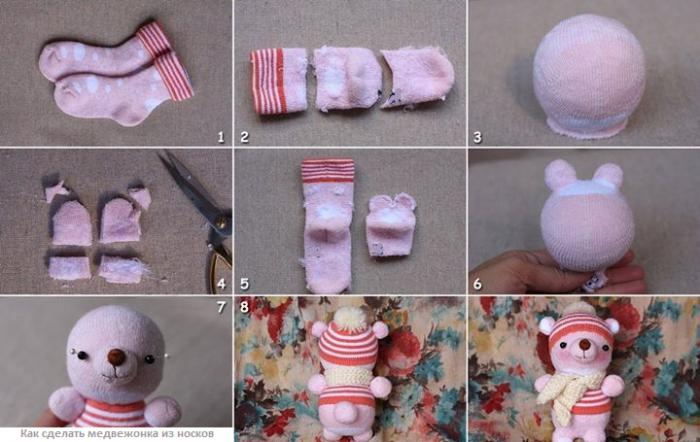 Как сделать игрушки из носка своими руками видео