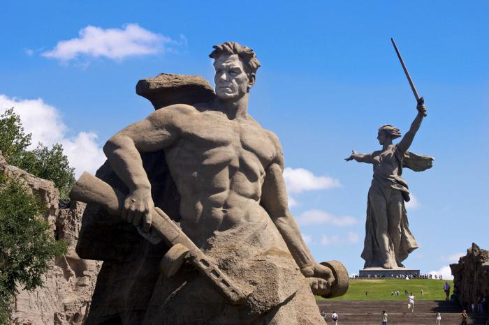The history of the monuments of the Great Patriotic War.