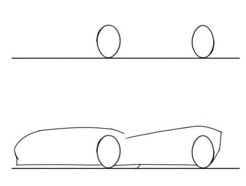 как нарисовать машину lamborghini mercy