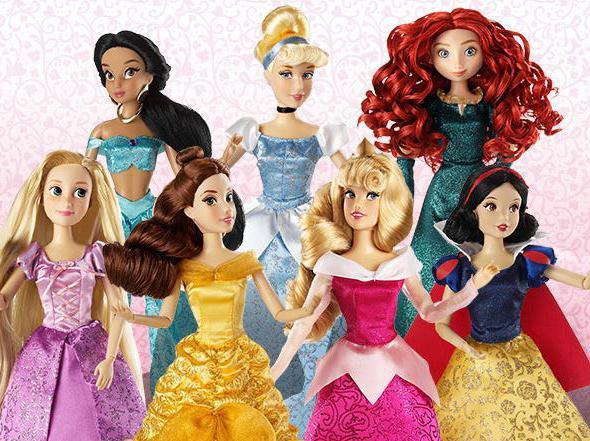 set of disney princess dolls