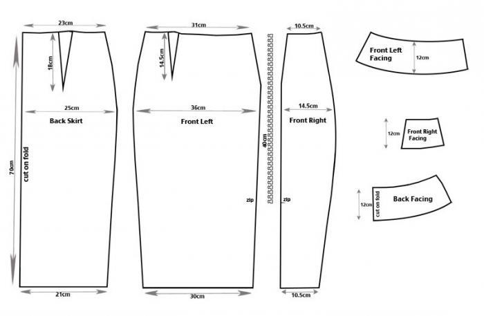 Сшить юбку карандаш без пояса своими руками для начинающих 28