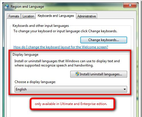 how to change windows language