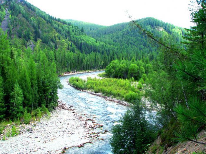 направление реки енисей