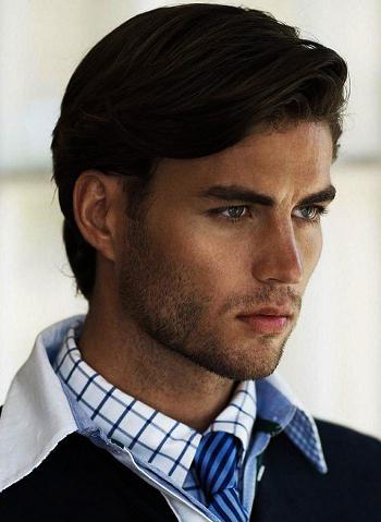 фото мужских причесок на средние волосы